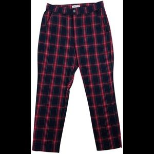 HOLLISTER RED AND GREEN PANTS SIZE MEDIUM